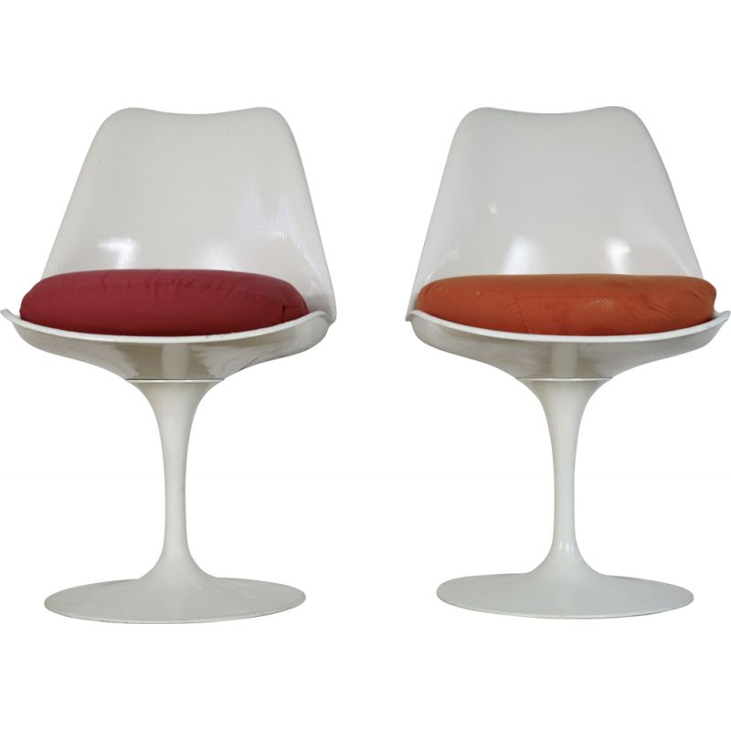 Pair of vintage Tulipe chairs Knoll edition, USA, 1960