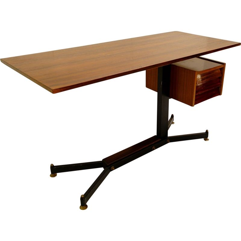 Small Italian vintage desk with drawers