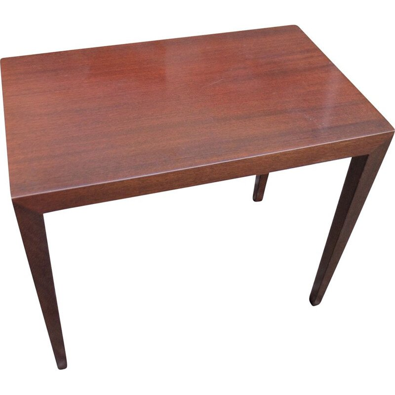 Vintage scandinavian mahogany side table by Severin Hansen 1960
