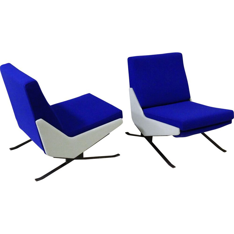 Vintage pair of TROÏKA armchairs by Pierre Guariche for Airborne 1961