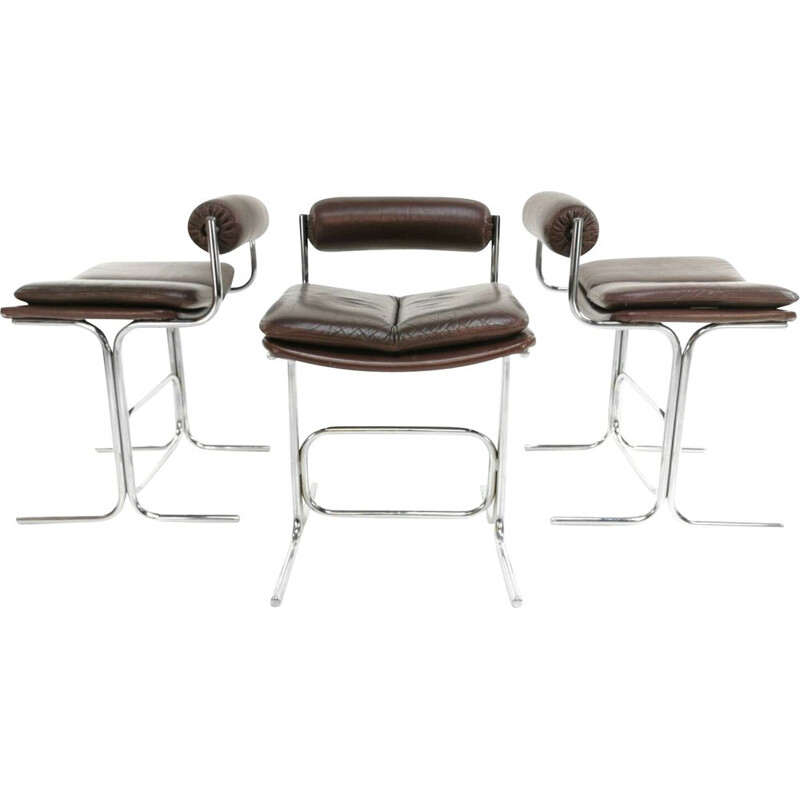 Vintage of 3 Pieff Eleganza chairs by Tim, 1960s