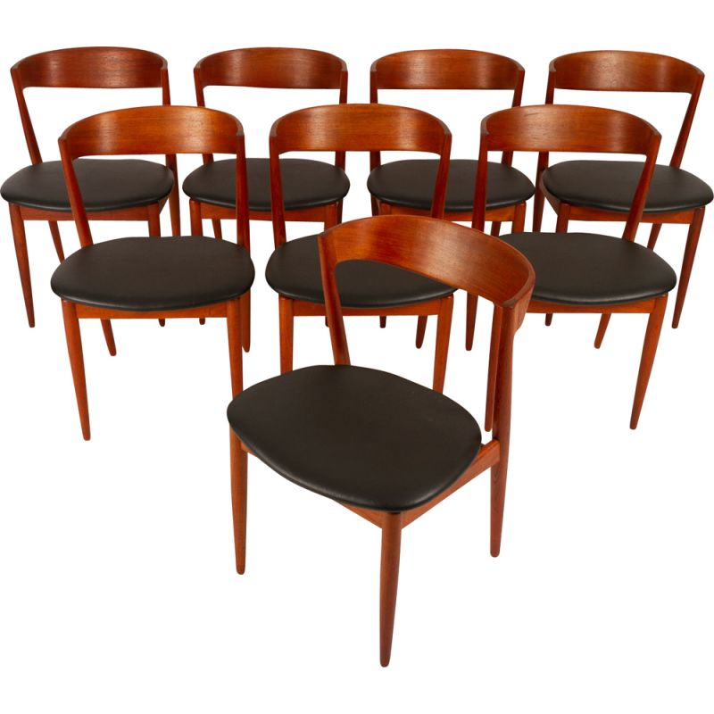 Set of 8 Vintage Teak Dining Chairs by H. W. Klein for Bramin, 1960s