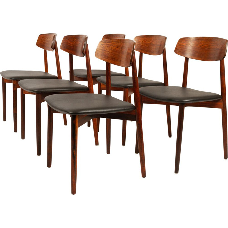 Set of 6 Rosewood Dining Chairs by Harry Østergaard for Randers Møbelfabrik, 1960s