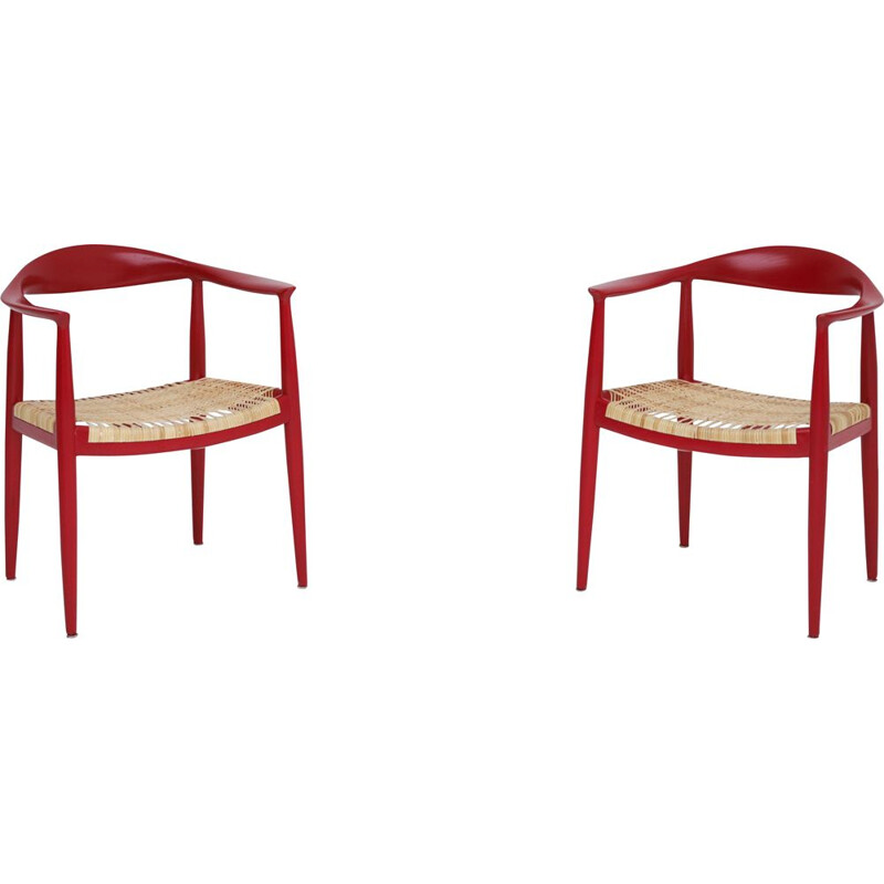 Pair of vintage chairs by Hans J. Wegner for PP Mobler