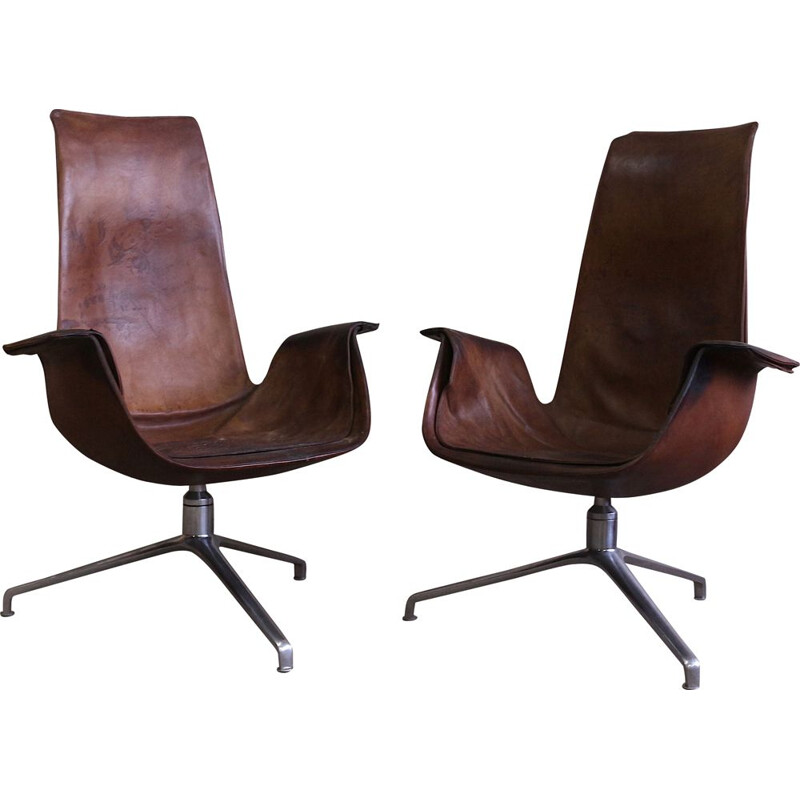 Pair of vintage tulip chairs by Fabricius and Kastholm 1960