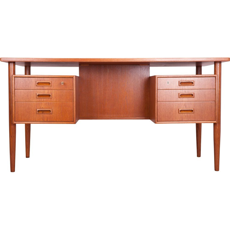 Vintage Freestanding Teak Desk by A. Vodder, 1960s