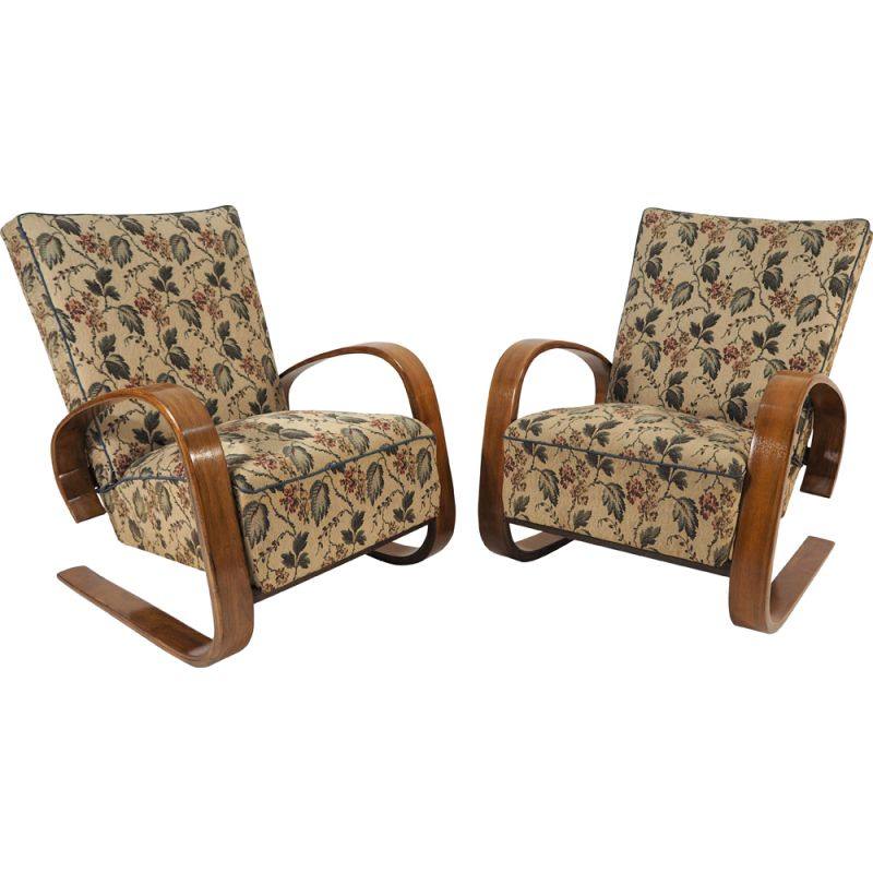 Pair of vintage lounge chairs by Miroslav Navratil, 1930s