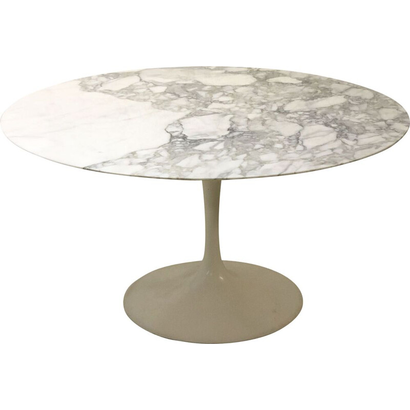 Vintage Tulip Table in Calacatta marble by Eero Saarinen for Knoll