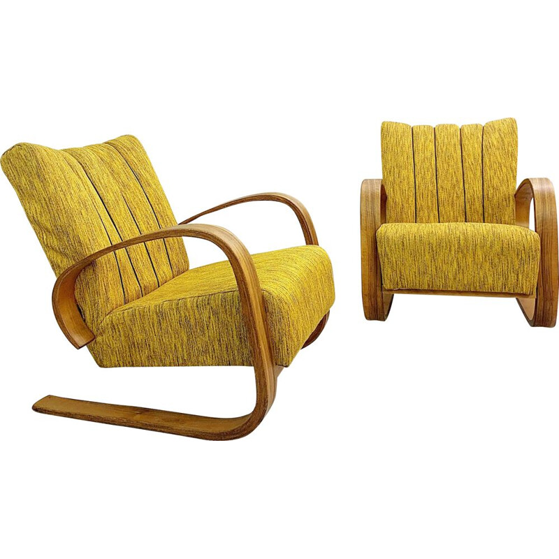 Pair of vintage armchairs by Miroslav Navratil 1930
