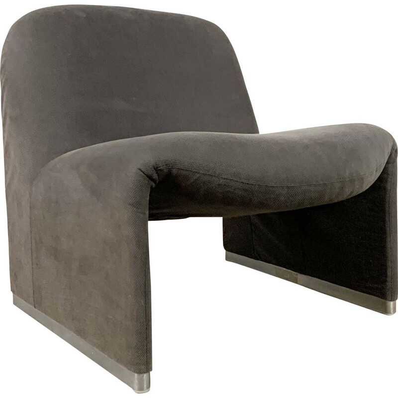 Vintage Grey Alky Lounge Chair by Giancarlo Piretti for Castelli, 1970