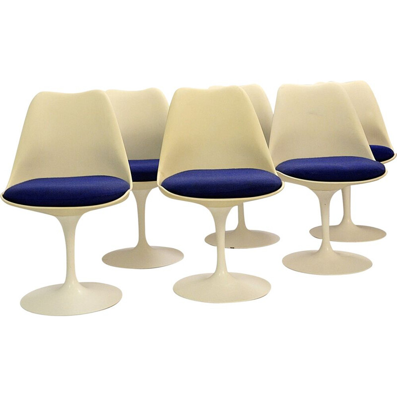 Set of 6 Vintage Tulip Chairs by Eero Saarinen for Knoll International, 1960