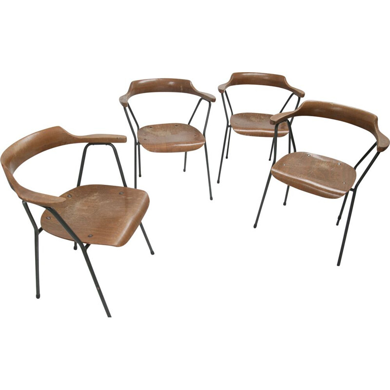 Set of 6 Vintage dining chair model 4455 from Niko Kralj for Stol Kamnik