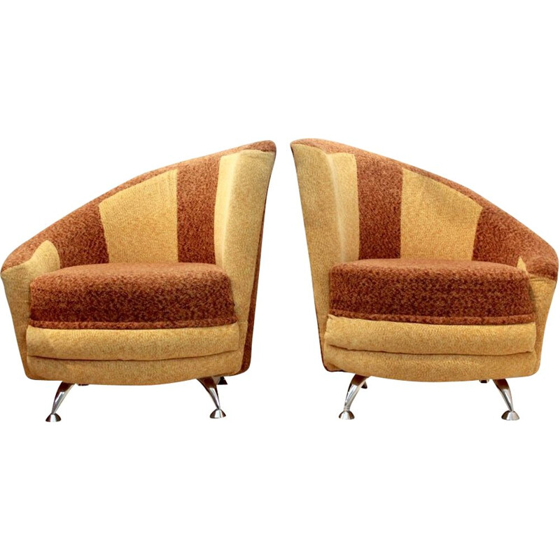 Pair of Cocktail armchairs by František Jirák for Tatra Nábytok, 1970s