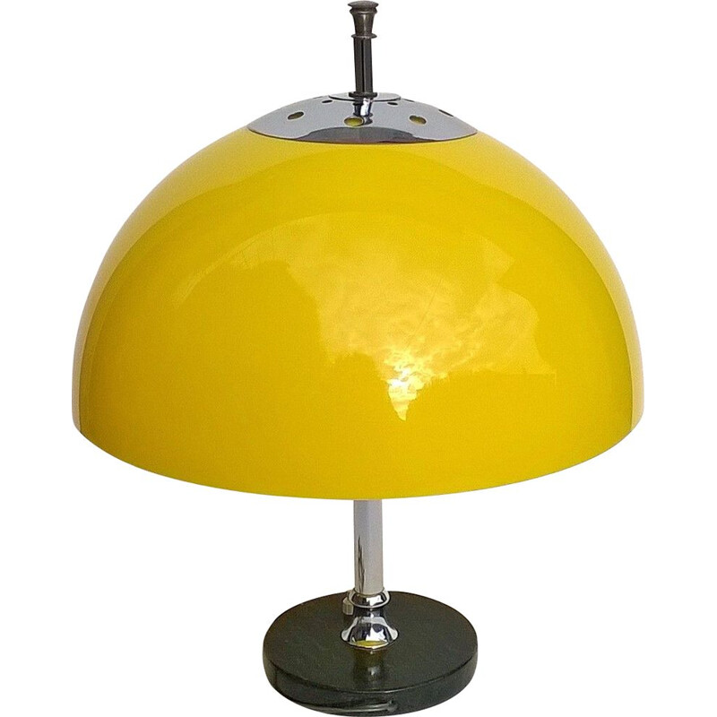 Vintage yellow large italian vintage lamp,1960s