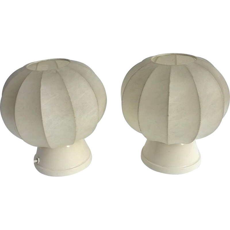 Pair of table lamps by Castiglioni Brothers for Licht Studio, Merano, 1960
