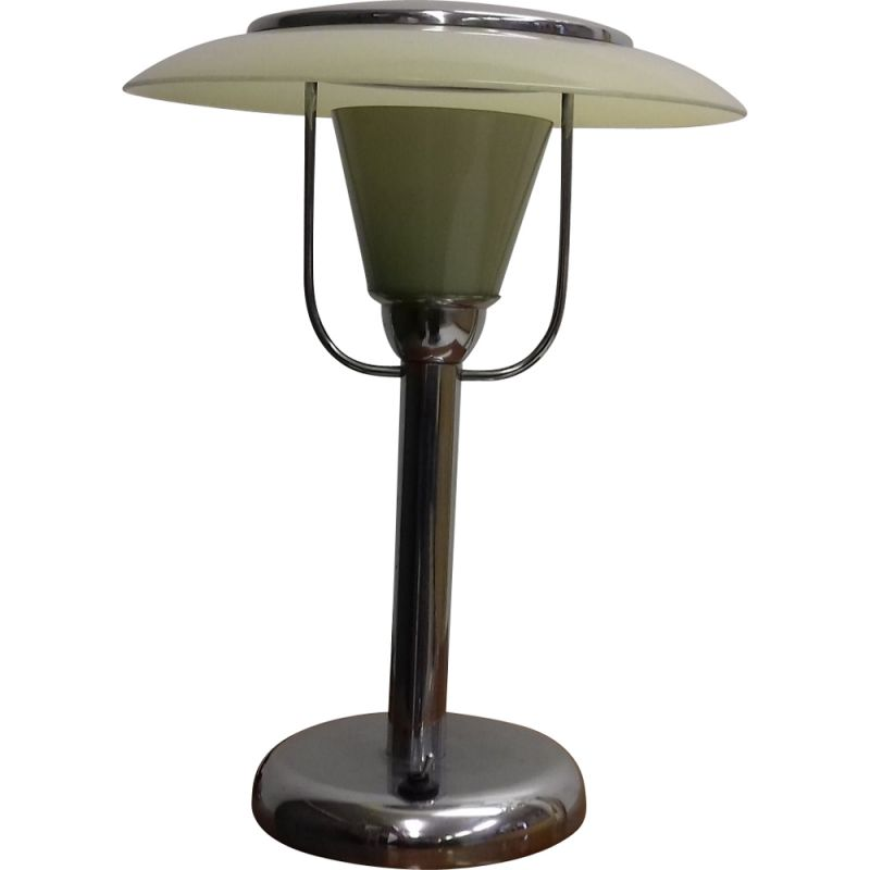 Vintage Art Deco chrome table lamp, 1935s