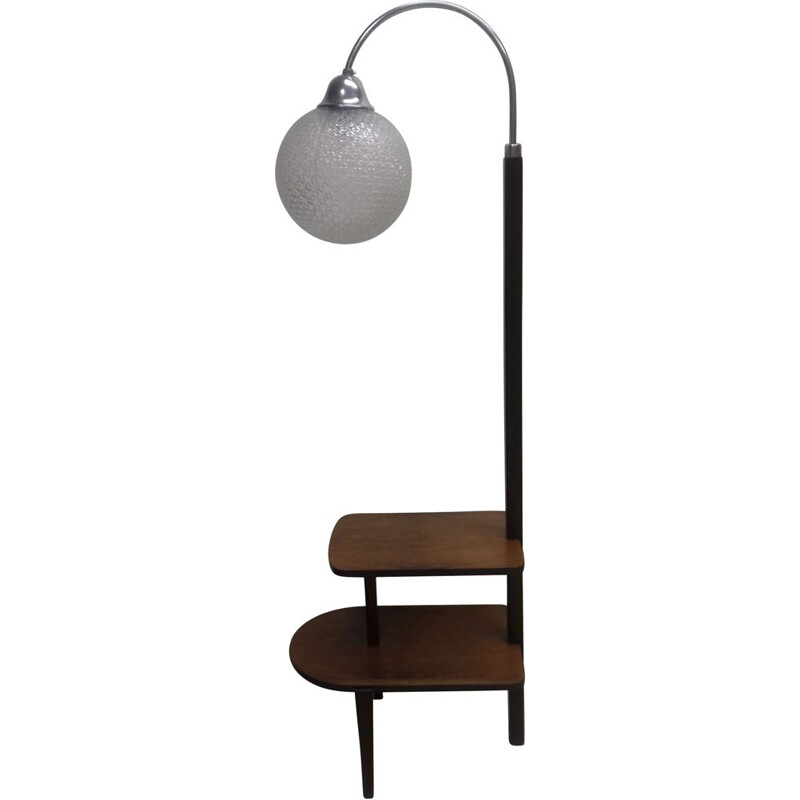 Vintage Art Deco floor lamp by Jindřich Halabala, 1940s
