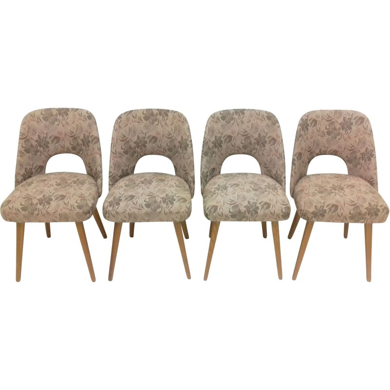 Suite of four vintage chairs by Oswald Haerdtl, 1950