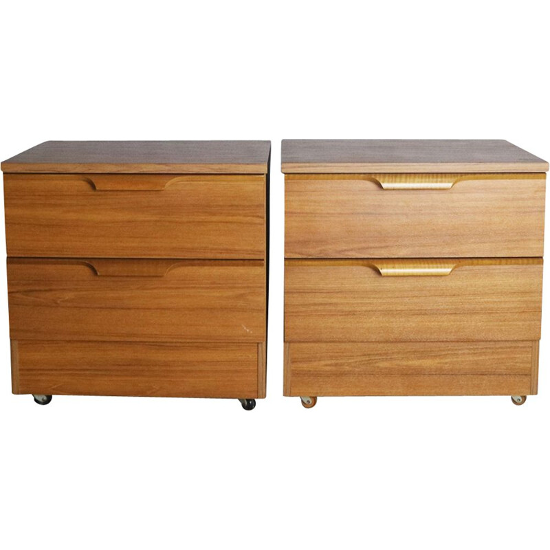 Pair of vintage bed side tables by Europa, 1970s