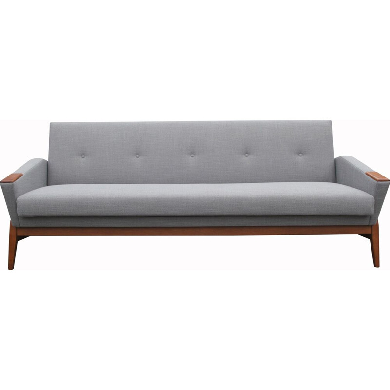 Danish vintage sofa or daybed in grey, 1950s