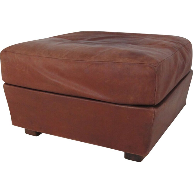 Vintage Brown Leather Ottoman from de Sede, 1960s
