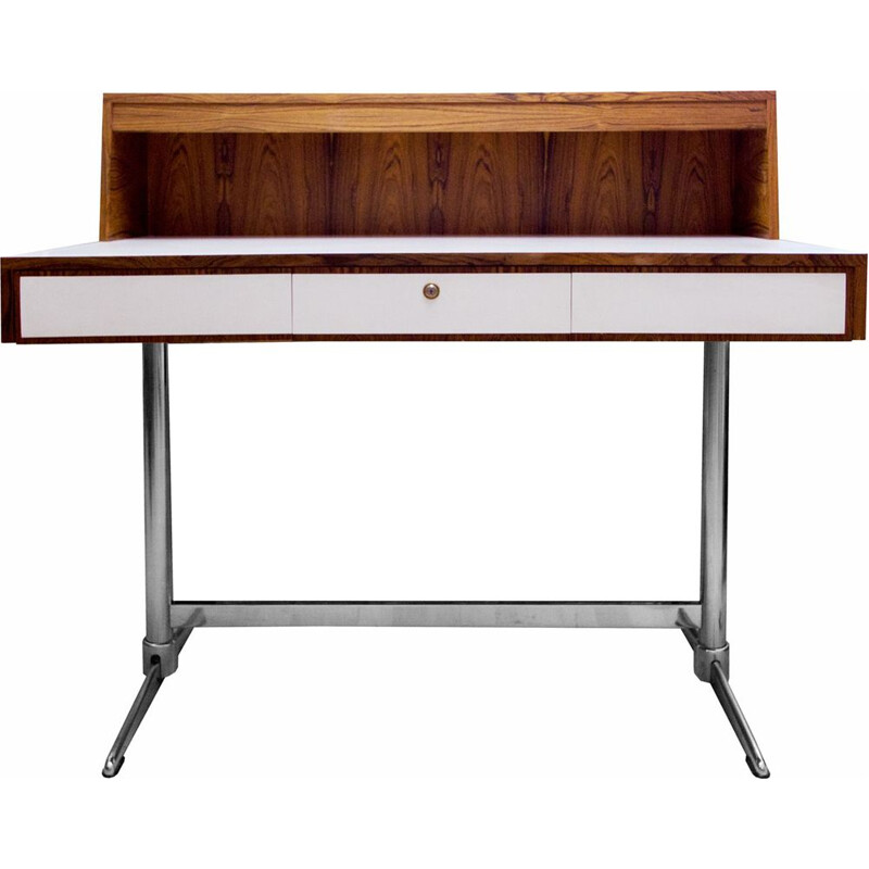 Vintage desk in rosewood and formica, 1970s