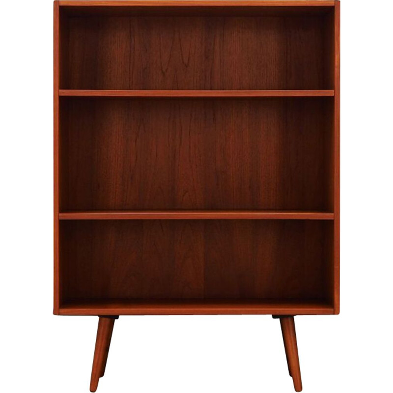Vintage bookcase in teak veneer, Scandinavian design, 1960-1970s