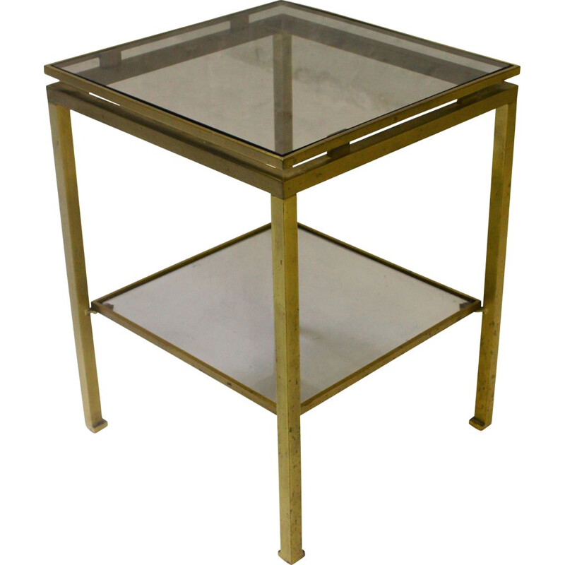 Vintage brass side table by Guy Lefevre