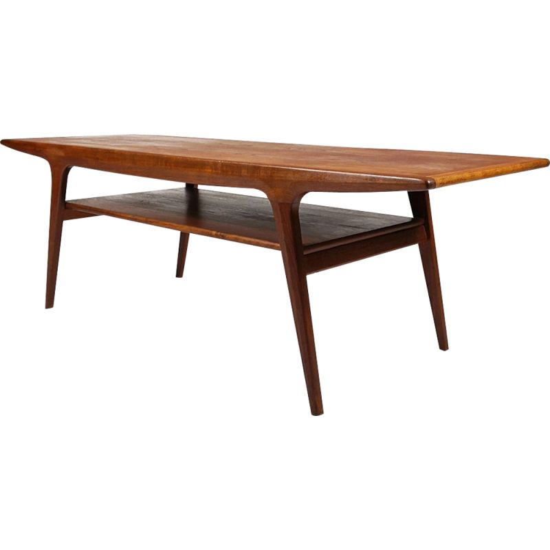 1950's Danish vintage teak coffee table