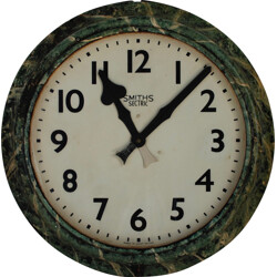Large Smiths electric clock in metal - 1940s