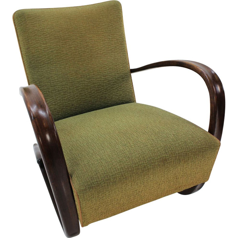 Vintage H269 armchair by Jindrich Halabala for Zavody, 1940s