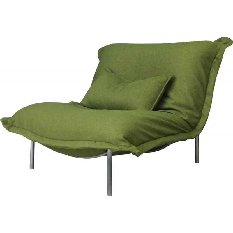 Vintage Calin Pillow Green sofa chair for CINNA by Ligne Roset 1980