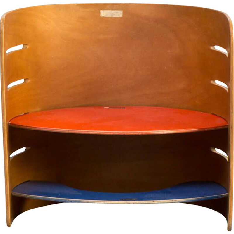 Vintage multiplex child stool by Kristian Vedel for Torben Orskov, 1950