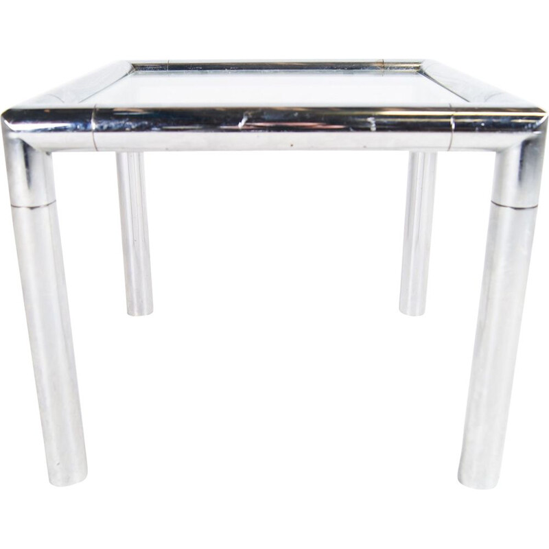 Vintage Tubular Chrome Cockail Sidetable 1960