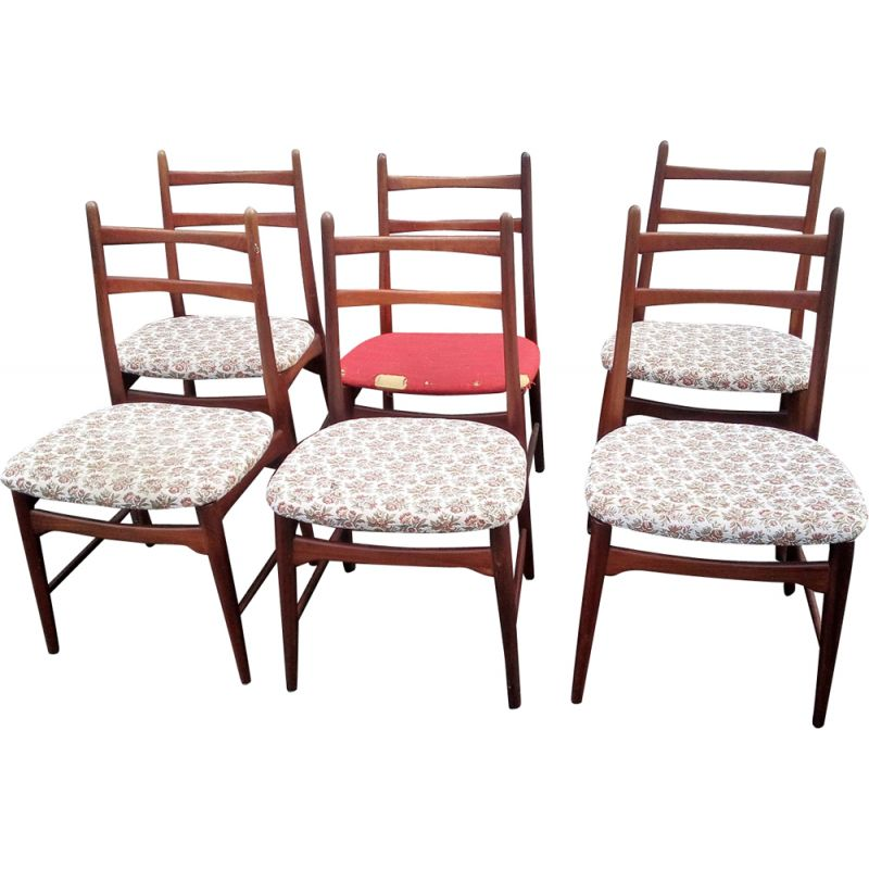 Set of 6 vintage Danish dining chairs
