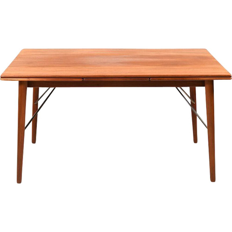 Vintage Extendable Dining Table in Teak by Peter Hvidt & Orla Mølgaard