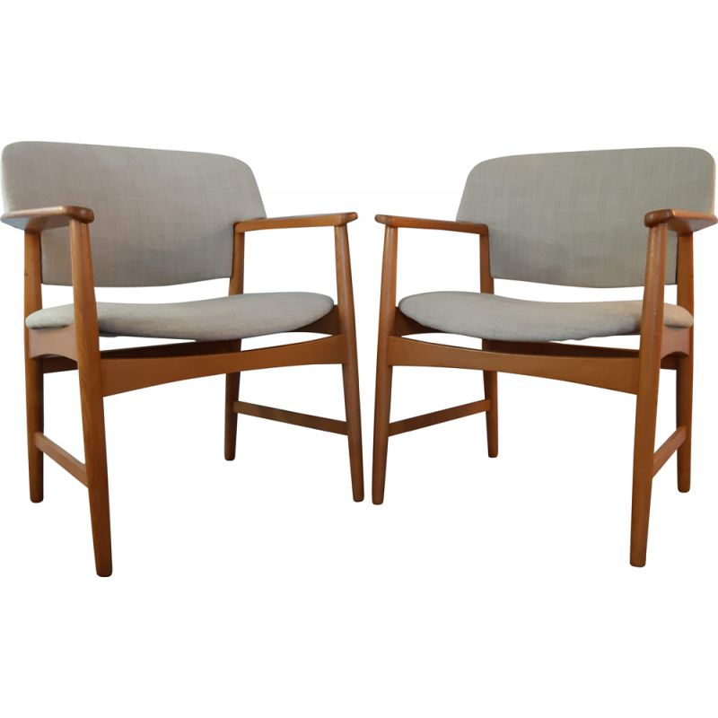 Pair of Vintage Chairs by Comfort from Larsen & Madsen, 1950s