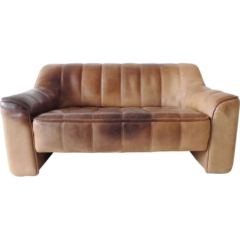 Vintage leather DS44 2 sofa by De Sede