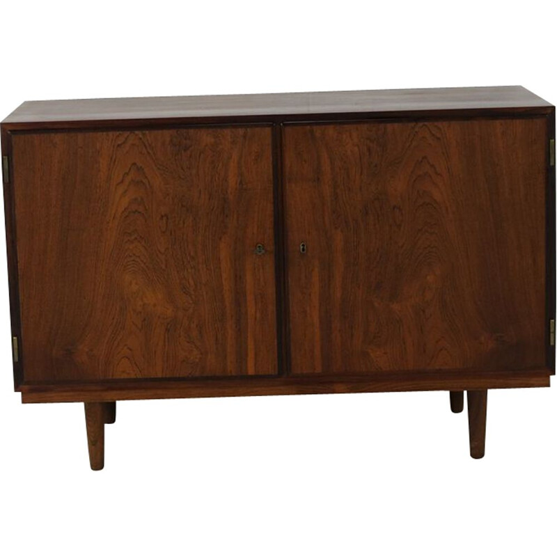 Vintage small rosewood sideboard by Hundevad
