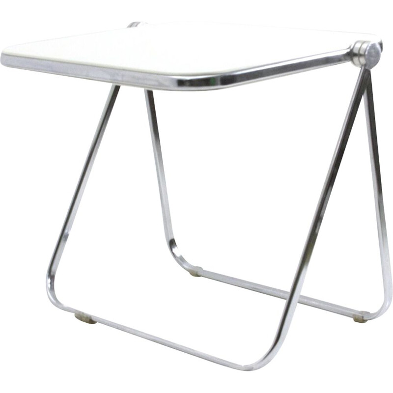 "Vintage white folding desk ""Platone"" by Giancarlo Piretti for Anonima Castelli, 1960"