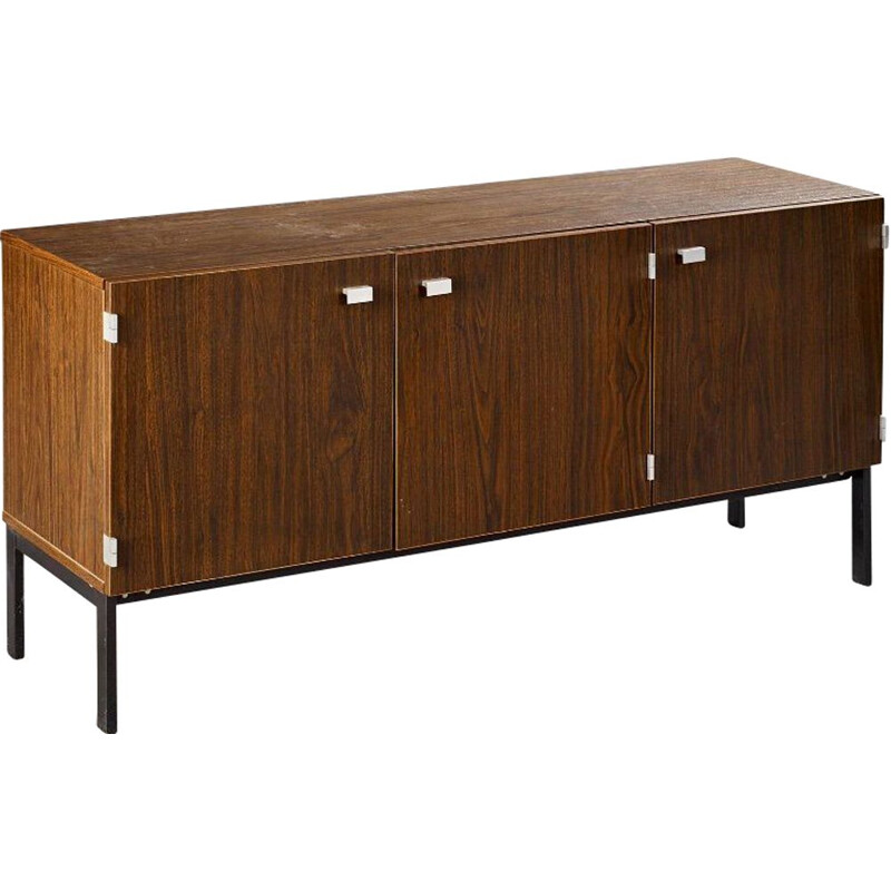 Vintage exotic wood sideboard by Pierre Guariche Meurop edition 1960