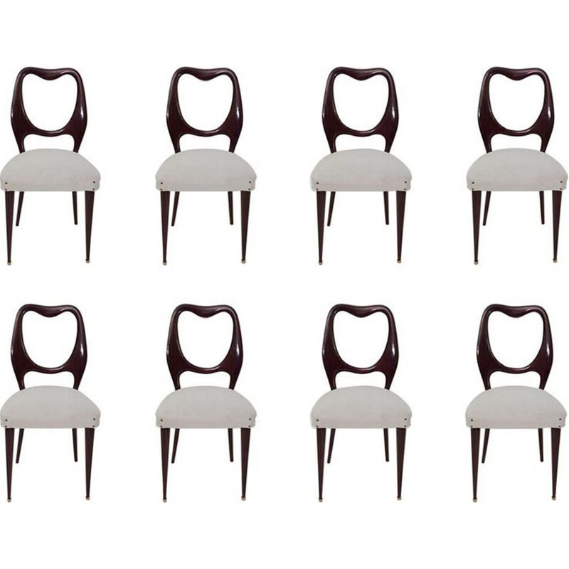 Set of Eight vintage Dining Chairs by Vittorio Dassi, Italy