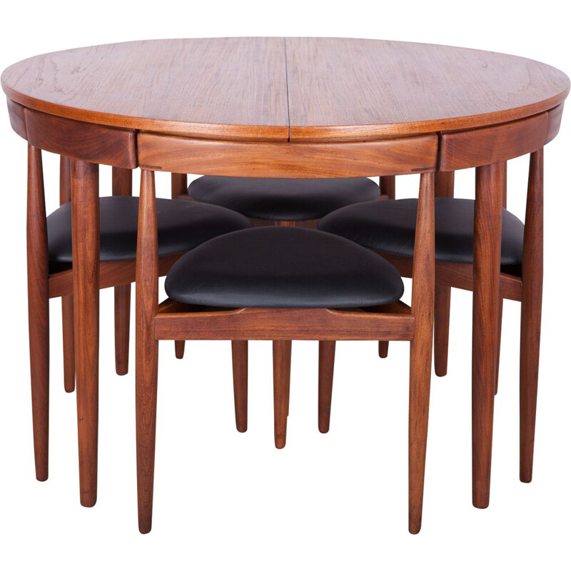 Teak vintage dining set by Hans Olsen for Frem Røjle, 1950s