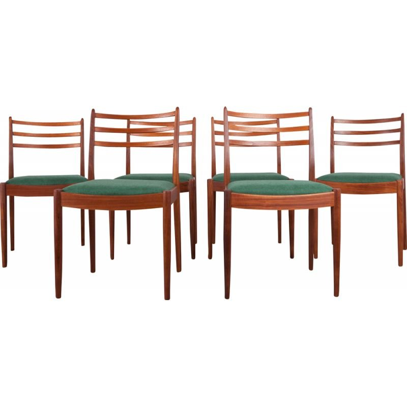Set of 6 Vintage Fabric and Teak Dining Chairs by Victor Wilkins for G-Plan, 1960