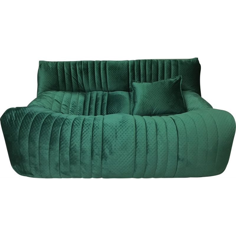 French vintage green 2-seaters sofa ARALIA by Ligne Roset, 1982s