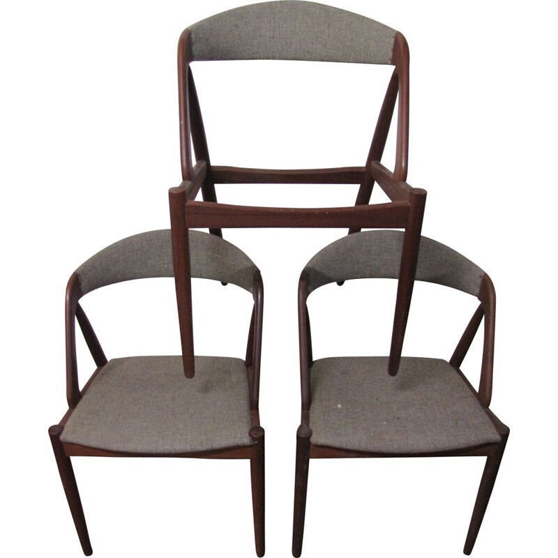 Set of 3 vintage chairs from Kai Kristiansen, Denmark