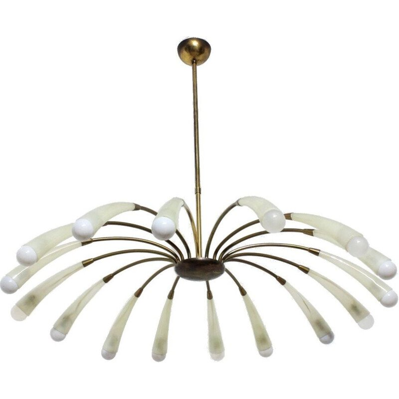 Vintage Italian chandelier with 16 lights 1950