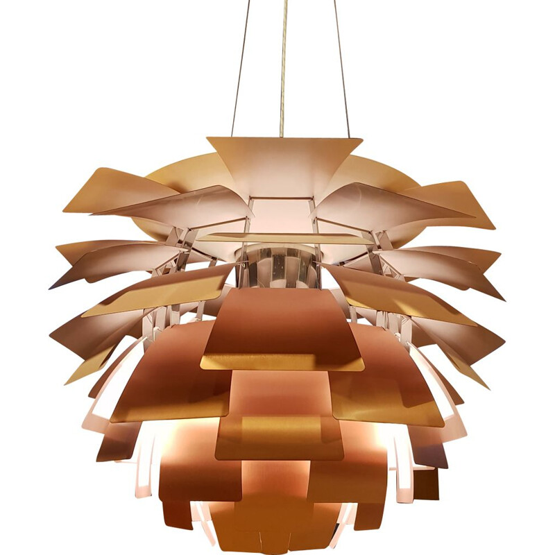 Vintage Artichoke Lamp in Copper Rose  by  P. Henningsen