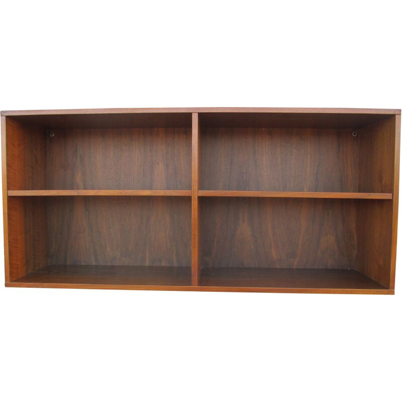 Teak veneered vintage wall shelf, 1970s