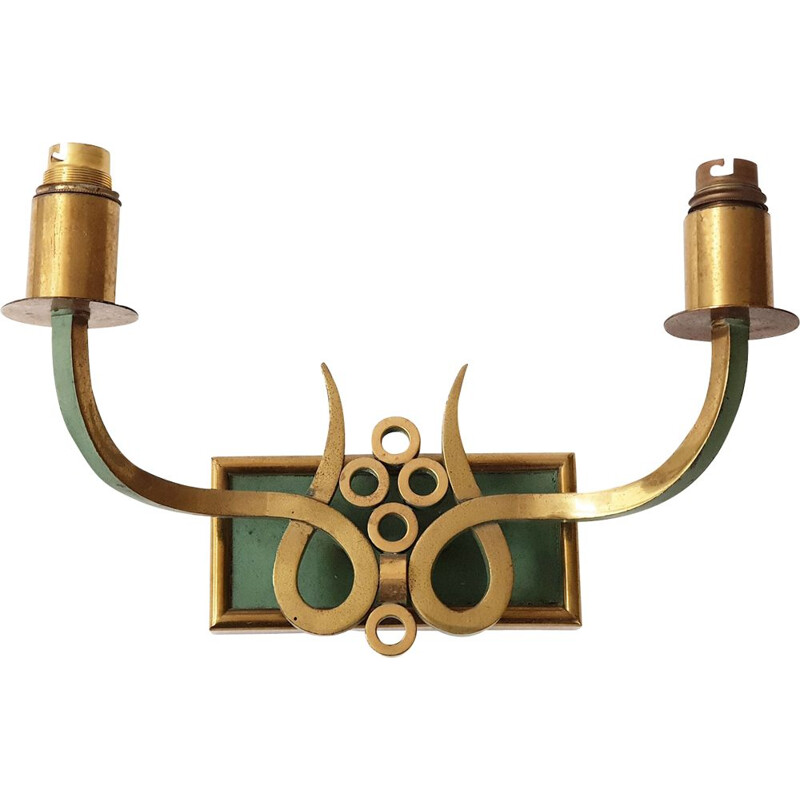 Vintage two arms wall light, 1940